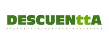 logo de descuentta en verde y blanco